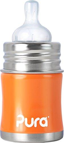 pura-kiki-infant-bottle-natural-vent-teat-5-oz-orange