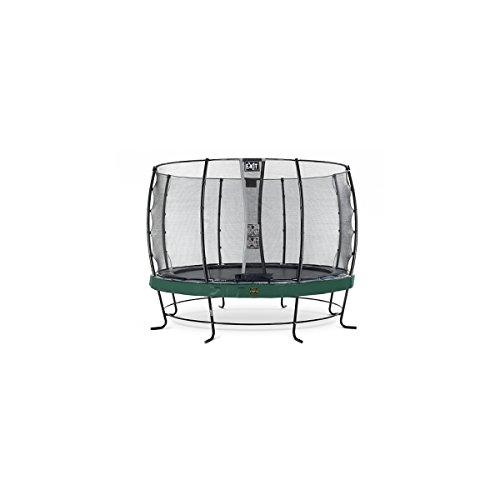 EXIT Trampolin Elegant Premium Ø 366 cm grün mit Netz Economy 08.10.12.20