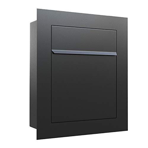 Unterputz-Briefkasten, Design Einbaubriefkasten Bari Anthrazit - Bravios