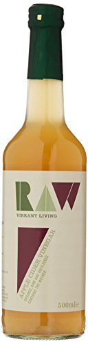 Raw Health Organic Cider Vinegar Unpasteurised with Mother 500 ml (Pack of 6)