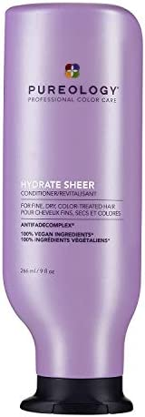 Pureology Hydrate Sheer Conditioner | For Fine, Dry, Color-Treated Hair | Lightweight Hydrating Conditioner |
