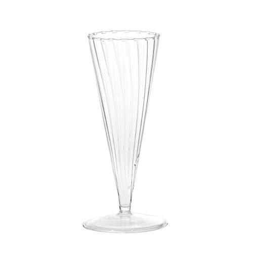 WARMWORD Glasvase Glas Vase Tischvase Blumenvase konisch (klar, 17x6cm) - 100% Cocoa Butter Stick
