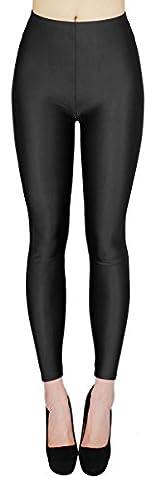Glanz Leggings Damen bunt viele Farben Tanz Leggings glänzende Leggins Shiny One Size - JL116 (One Size - geeigent für Gr. 36-38,