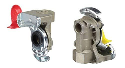 Fahrzeugbedarf Wilms Set Kupplungskopf Standard gelb & rot für Bremse/Vorrat M16 LKW Anhänger Auflieger -