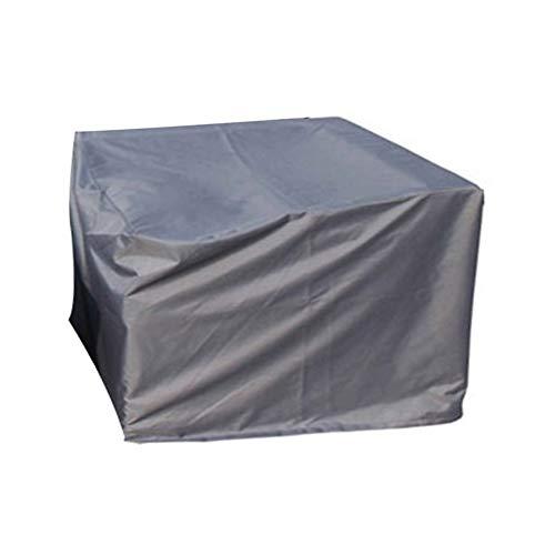 LSXIAO-Gartenmöbel Abdeckung Wasserdicht Winddicht Und Regensicher Tisch- Und Stuhlabdeckung 420D Oxford Tuch PU-Beschichtung Terrassenzubehör, 24 Größen (Color : Gray, Size : 126X126x70CM)