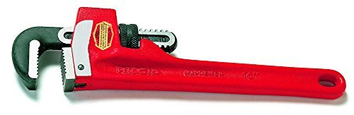 Straight Pipe Wrench, Cast Iron, 10 in. L by Ridgid