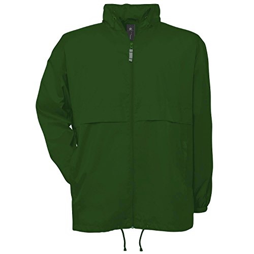 B&C Windbreaker rot Bottle Green