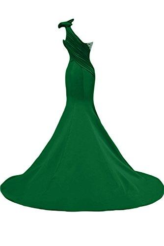 Sunvary Gorgeous Mermaid, abito da sera Una spalla Pageant Gowns per abiti lunghi da donna Hunter Green