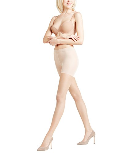 FALKE Damen Strumpfhosen Invisible Deluxe Shaping 8 DEN, Ultra-Transparent, Matt, 1 Stück, Beige (Powder 4069), Größe: S-M -