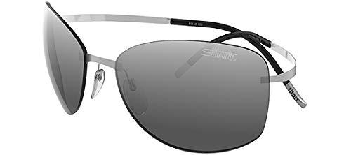 Silhouette occhiali da sole titan pure 8149 ruthenium/grey taglia unica uomo