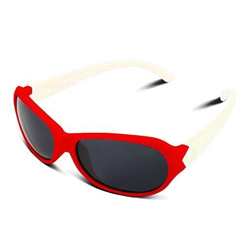 RIVBOS rbk006de goma flexible para polarizadas gafas de sol para el bebé...