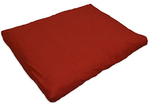 YogaAccessories (TM) Cotton Zabuton Meditation Cushion - Cardinal Red
