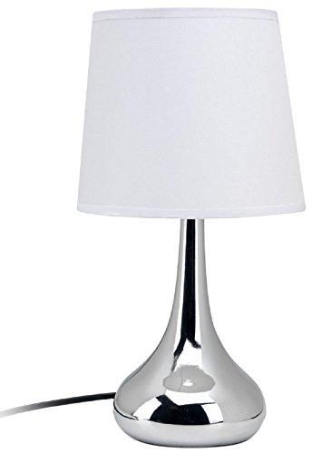 Mathias 3470297 Lampe Touche Romy Blanc D17 H33, Métal, E14, 28.03 W