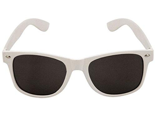 Brille Austin für Erwachsene weiß Rahmen dunkel Objektiv Willy Wonka Fancy Dress Party ()