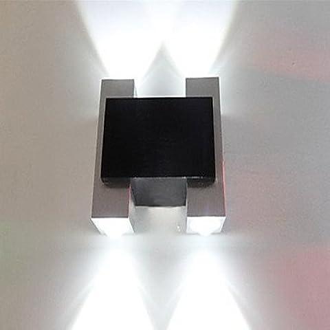 ALUK-4W llevó la luz de pared moderno con dispersión de luz Negro Dise?o Shuttle Plata
