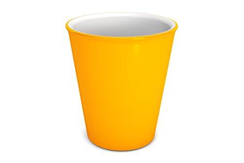 Ornamin Becher 300 ml gelb (Modell 1206) / nachhaltiger Mehrweg-Becher Kunststoff