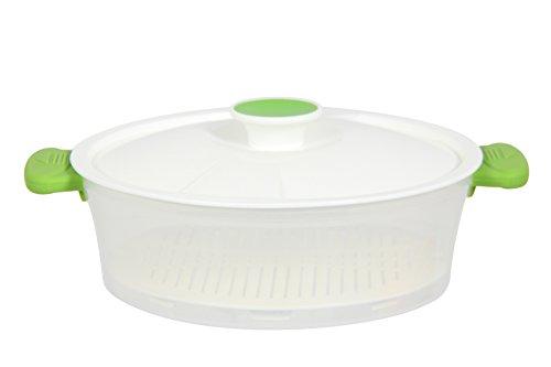 Menastyl Kochen 8010208.0Fassungsvermögen 1L7Dampfgarer Polypropylen grün 26x 21,5x 7,5cm