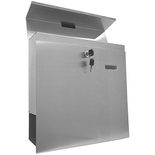 STILISTA Hochwertiger V2A Edelstahl Wandbriefkasten mit Zeitungsfach, verschiedene Designs, Schwere Qualität (3-4 kg) – 40100040 - 6