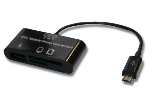 USB Host OTG (on the go) Adapter Kabel mit Kartenleser für Samsung Galaxy Tab 4 10.1 SM-T530 Wi-Fi, SM-T535 LTE wie Nokia CA-157, Samsung ET-R205U.