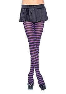 Leg Avenue- Mujer, Color negro y morado, Talla Plus 3X/4X (EUR 52-56) (7100Q09039)