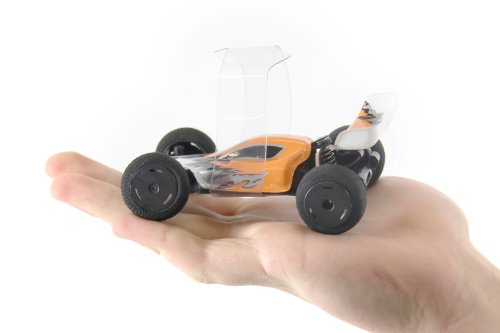 XciteRC 30802000 - High-Speed Racebuggy, 2WD Ready to Race Modellauto, 1:32 mit 2.4 GHz Fernsteuerung, orange/weiß/silber - 3