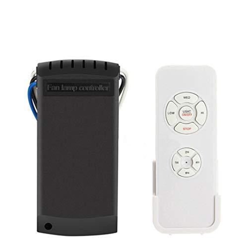 Kakiyi Universal-Deckenventilator Lampe Fernbedienung Kit Timing-Wireless Control-Schalter Angepasst Windgeschwindigkeit Sender Empfänger Wireless Control Kit