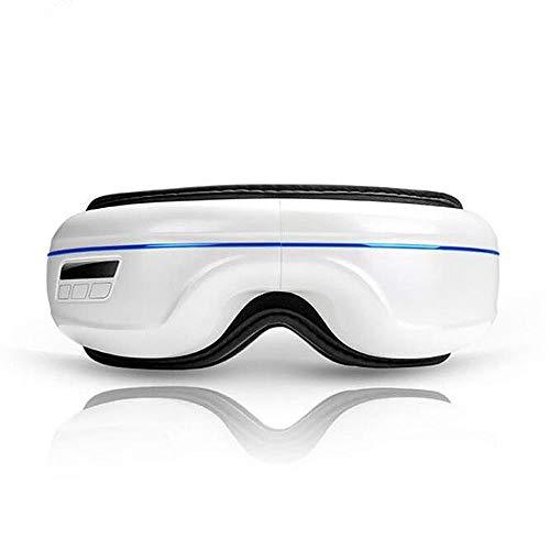WMC Wireless Bluetooth Air Compression Augenmassage, Smart Eye Massage beheizte Brille mit Misic für Anti-Falten-Augenpflege