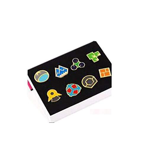 Version V3 Pokemon Ash Gym Badge Gen 1-6 Badge Collection Box Set von 8 Stück 2017 Gr. Normal Size, Hoenn (Gen 4)