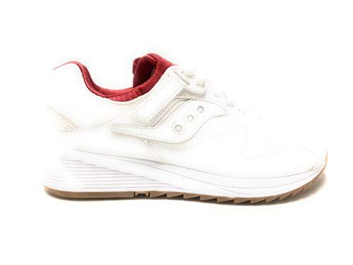 Sneaker Saucony Saucony Zapatilla de Deporte de los Zapatos de los Hombres bajo S70286-5 Grid 8500 Talla 42 Blanco/Rojo