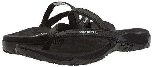 Merrell Womens/Ladies Terran Ari Post Breathable Flip Flop Sandals Black