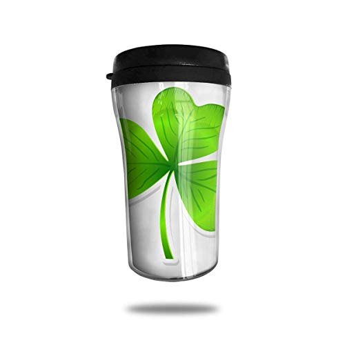 Wfispiy St.Patrick's Day Irish Flag Green Orange Clovers Funny Stainless Steel Travel Coffee Mugs Cup with Leak Proof Lid 8 Ounces 8 Oz Irish Coffee Mug