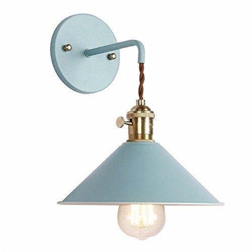 mauer wandleuchter lampen beleuchtung fixture mit ausschalter, grau macaron wand lampe e27 edison kupfer lampe inhaber mit vereisten körper mit farbe lampe bad eitelkeit licht,blau -