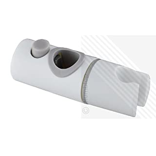 ECOSPA Universal Shower Handset Holder for 22mm Shower Riser Rails in White (replaces Triton)