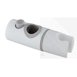 Universal Shower Handset Holder for 22mm Shower Riser Rails in White/Grey Trim (replaces Triton)