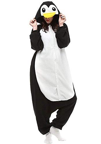 Pyjamas Bekleidung Animal Erwachsene Unisex Schlafanzüge Karneval Onesies Cosplay Jumpsuits Anime Carnival Spielanzug Kostüme Weihnachten Halloween Nachtwäsche Herren Schwarz Pinguin