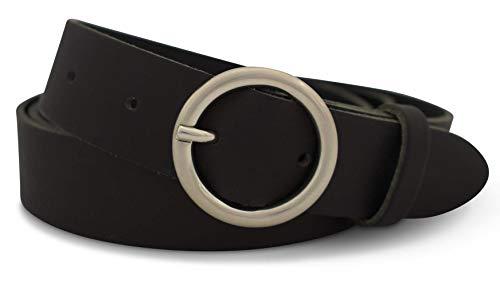Damen Logo Gürtel (GREEN YARD Ledergürtel schmal in schwarz - Gürtel aus 100% echtem, weichem Leder für Damen - Damengürtel schwarz - 3 cm breit)