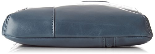 Piquadro Blue Square bisaccia a tracolla pelle 21 cm Blu (R.A.F Blue)