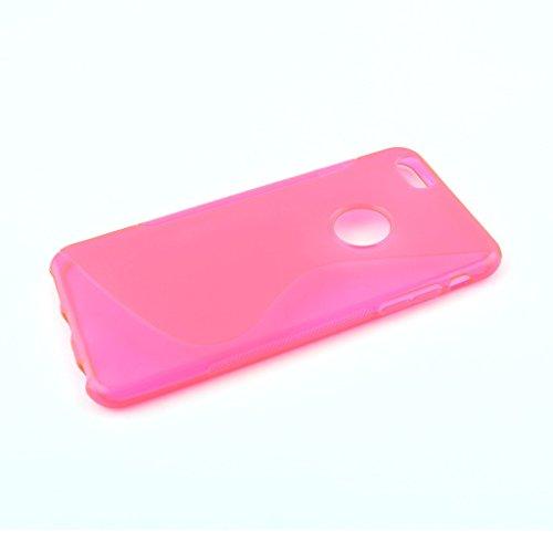 Rose chaud S Line Wave Soft coque en Gel TPU Etui Housse Coque Coque arrière pour Apple iPhone 4