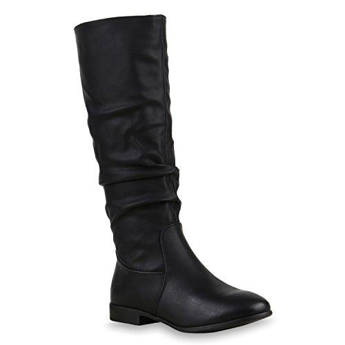 Stiefelparadies Damen Klassische Stiefel mit Blockabsatz Flandell
