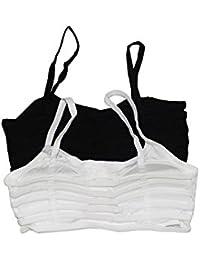 Dressup store 6 Strap Padded Women's White, Black Bra