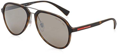 Prada Sport Herren 0PS05RS U615K0 58 Sonnenbrille, Braun (Havana Rubber/Brown Silverpolar),
