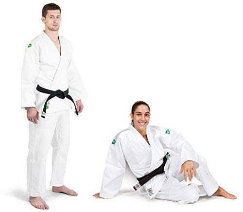 GREEN HILL Offerta FINE Serie JUDOGI Professional IJF Approved Judo Bianco GI White Kimono Unisex (Banda sulle Spalle Bianca, 200 Large Fit)