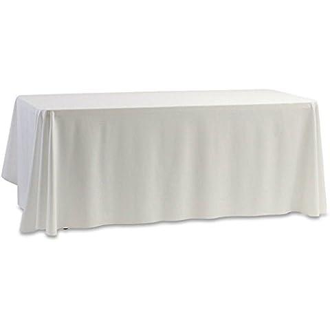 Bianco 144,8x 144,8cm da matrimonio compleanno partito Cavalletto tovaglie tovaglia
