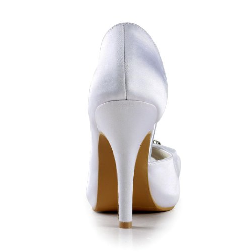 Jia Jia Wedding 85563 chaussures de mariée mariage Escarpins pour femme Blanc