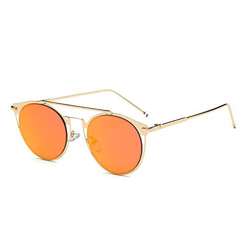 MOJINGYAN Sonnenbrillen,Vintage Colorfull Metall Sonnenbrillen Mode Thom Browne Sonnenbrille Männer Marke Sonnenbrille Box Frauen Gold Red Mercury