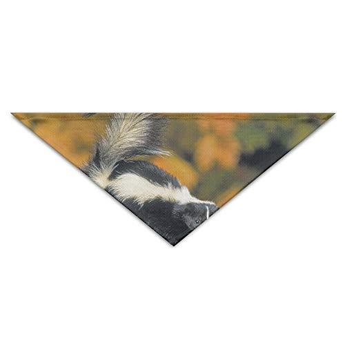 deyhfef Skunk Pet Dog Cat Puppy Bandana Triangle Head Scarfs Accessories