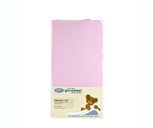 DK Small Moses Basket Fitted Sheet (Pink)