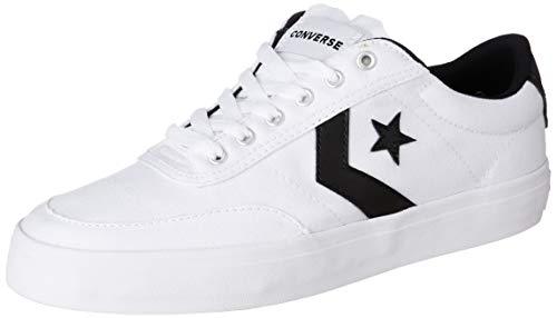 091316ebfc3 Converse Unisex White Black Sneakers-9 UK India (42.5 EU)(8907788082032