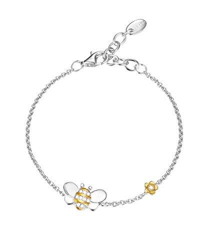 Esprit Damen-Armband 925 Silber rhodiniert Zirkonia Rundschliff 13,5 cm ESBR91827D135