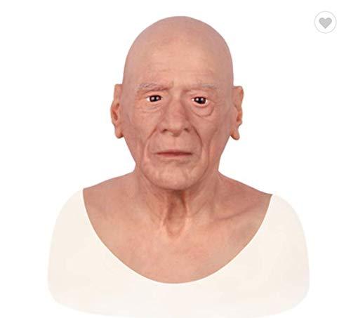 2019 Top Qualität Partei Maskerade Männer Requisiten Menschliches Halloween Gesicht Silikon Realistische Full Head Maskerade (Halloween-make-up Für Männer 2019)